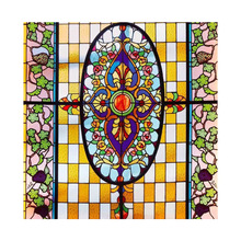 Chinese church stained  window glass for interior or exterior decoration