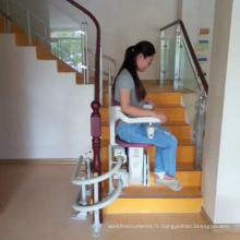 Largement utiliser la meilleure vente plate-forme monte-escalier droit