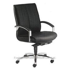 Chaise en cuir artificiel noire de base de bas de dos de bas en haut de bas de caisse (HF-CH026B)