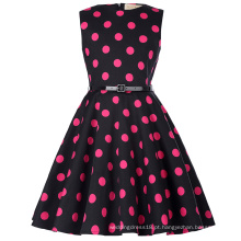 Kate Kasin Kids 'Audrey' Vintage Divinity 50s Vestido Vintage Retro Cotton Floral Pattern Vintage Little Girls Dress KK000250-17