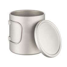 Tasse à café en titane à double paroi avec couvercle