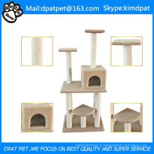Lit de centre d'activité Jouets d'animal de compagnie de chaton Protéger l'arbre de chat d'animal familier heureux