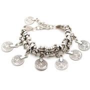 Retro Fashion Anklet Bracelet Carved Coins Short Bracelet Alloy Jewelry