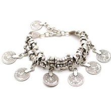 Retro Fashion Anklet Bracelet Carved Coins Short Bracelet Alloy Jewelry
