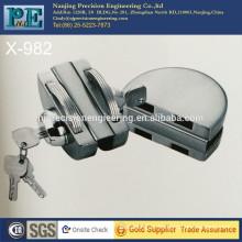 half round stainless steel fabrication brass lock core double glass door double lock head