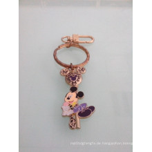 Mickey Mouse Emaille Keychain mit Gold überzogen (GZHY-KC-023)