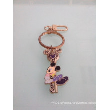 Mickey Mouse Enamel Keychain with Gold Plated (GZHY-KC-023)