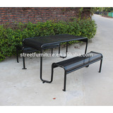 Outdoor metal patio table set steel picnic table