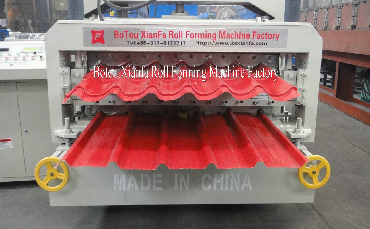 Double Roof Forming Machine