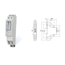 Single Phase DIN Rail Smart Electric Energy Meter