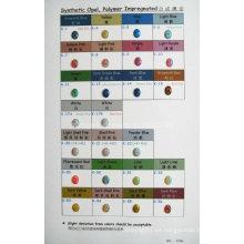 Tabla de colores impregnados de polímero de ópalo sintético