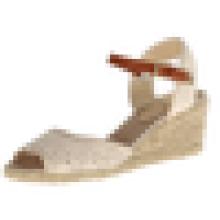 Самый последний ботинок платья ботинка женщин конструкции верхний клин 2015 сандалии высокой пятки