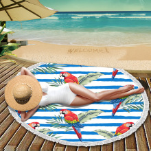Cheap Microfiber Fashion Printed Round Beach Fabrics