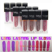 Popular Makeup Qibest Lip Gloss Matte Lasting Liquid Lipstick Waterproof Not Stick Cup Not Fade