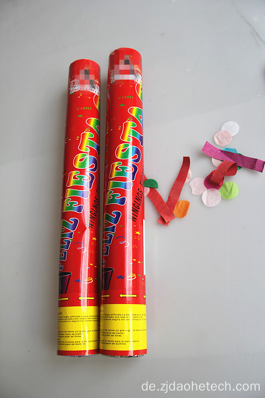 Red Wrapper bunte Papier Party Popper