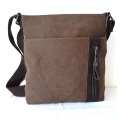 Tas Vintage Leisure Leather Mix Canvas Traveler