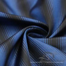 Veste à manches résistant à l'eau et au vent en flan Tissé à rayures jacquard tissé à 100% en fil de filation (X024)