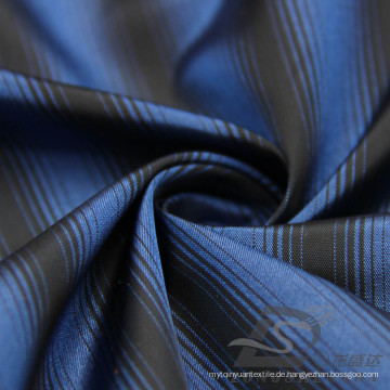 Wasser & Wind-resistente Mode Jacke Daunenjacke gewebt gestreift Jacquard 100% Polyester Kationische Garn Filament Stoff (X024)