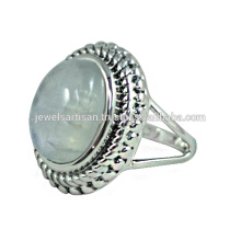 Rainbow Moonstone Gemstone 925 Sterling Silver Ring Jewelry