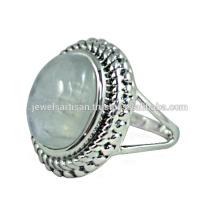 Радуга Лунный Камень 925 Стерлингового Серебра Кольцо Ювелирных Изделий