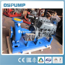 IS est un ensemble de pompe à eau à moteur diesel à un étage