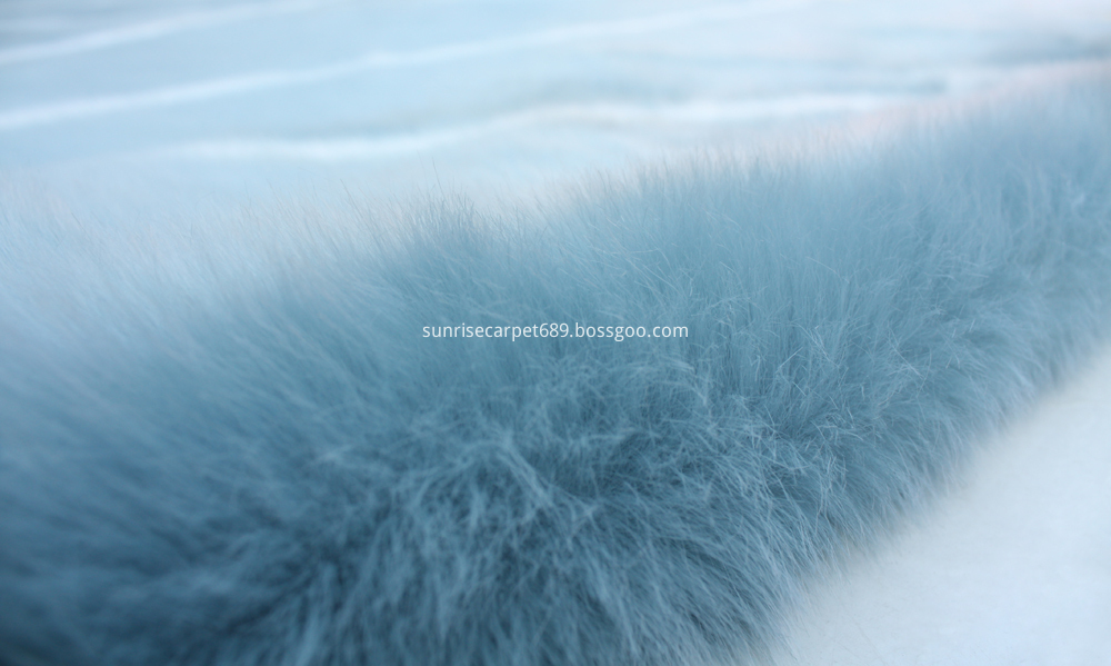 Imitation Fur with design BLue and white color