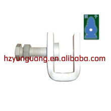 down-lead clamp for pole/drop wire fixture/electric fitting power line clamps for telescopic poles overhead line clamp