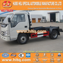 FOTON FORLAND 4x2 4.5tons 98hp hydraulic lifting garbage truck left hand drive best price for sale in China