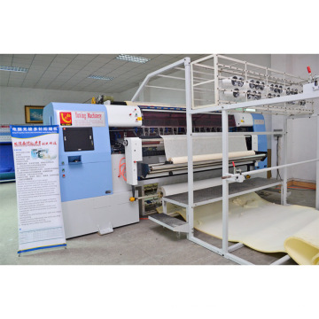 Yuxing hot-sale computerized shuttleless quilting mattress machine can do tack and jump patterns