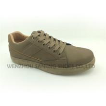 Nueva llegada de los hombres de moda PU Sneaker superior Snc-70003