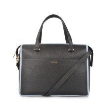 Carryall Designer Italian Leather Top Zip Work Bag