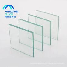 6mm 8mm de cor clara float temperado vidro laminado