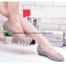 Lady dernières sandales de gelée de cristal de haute qualité (ff614-6)