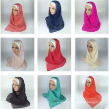 Meilleur sell d'écharpe Hijab musulman à la soie