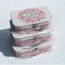 De alta calidad de lujo de papel de cartón de lujo maleta / al por mayor de papel caja de embalaje de regalo