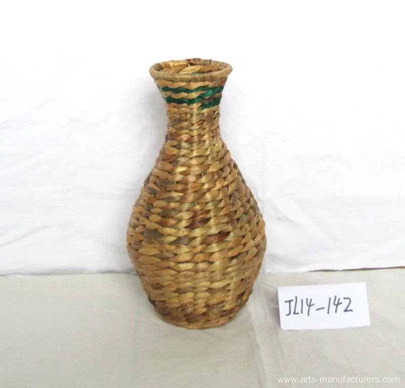 Round Water Hyacinth Flower Vase
