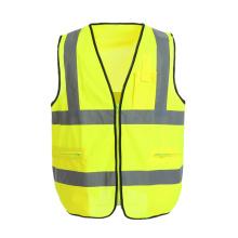 Gilet de sécurité réfléchissant avec poches fonctionnelles personnalisables
