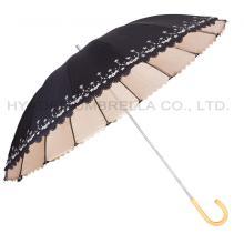 Paraguas UV bordado para mujer