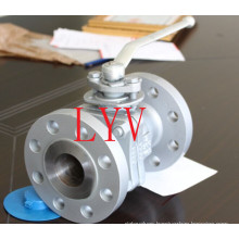 Made in China Full Bore Flanged 3PCS Fixed Ball Valve
