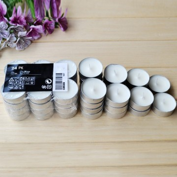 Logo Brand Natural Material Paraffin Lilin Tealight Lilin