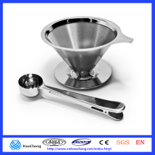 Lavable y reutilizable para verter sobre gotero de café / filtro de café para jarras chemex hario