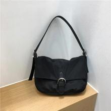 2021 nylon fabric belt buckle two strap bag