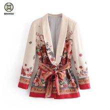 wholesale woman jacket custom make print polyester blazer woman