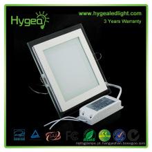 Square PF 0.95 Alumínio puro / branco / frio / cool vidro painel lâmpada