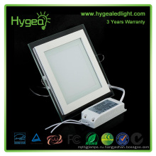Квадратный PF 0.95 Алюминиевый чистый / белый / холодный / холодный стеклянный панельный светильник