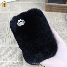 Caso de lujo del teléfono móvil de la piel de la fuente de la fuente para Iphone