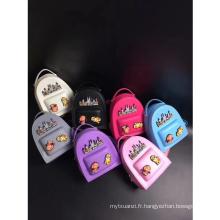 2018 Nouvelle arrivée de bande dessinée enfants coloré sac à dos de gelée sacs enfants belle voyage mini sacs