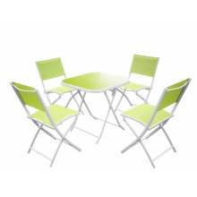 5 pc alu foldable garden dining set