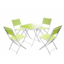 5 pc alu foldable garden dining set