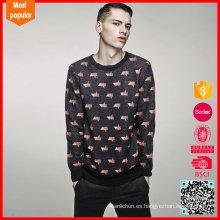 100% lana mens tejidos los últimos diseños de suéter para los hombres